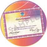 """<strong>Certificato """"The Best of the Best of Matrix Energetics<sup>®</sup>""""</strong> 